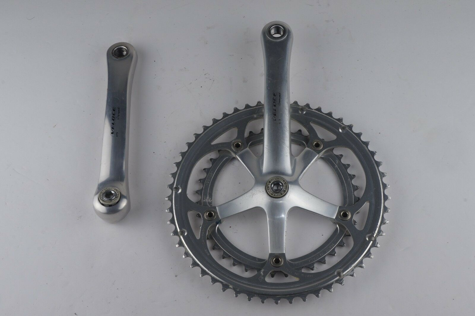 Campagnolo Veloce 9 Speed alloy double crankset 39 53 175mm square taper