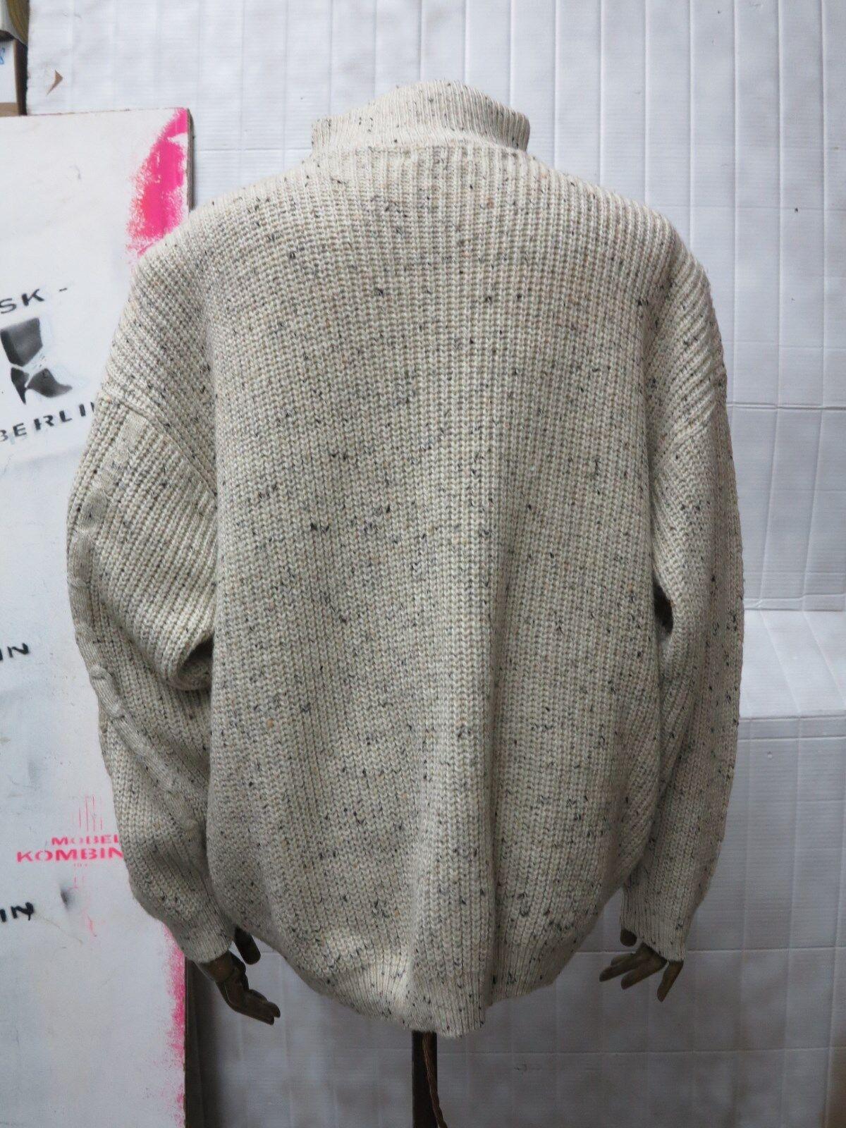 Berto LUCCI Uomo Lavorazione a Maglia Maglia Maglia Pullover Pullover 90er True Vintage 90s WOOL JUMPER c3128a