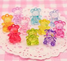 25 x Colourful Teddy Bear Beads DIY Jewellery Childrens Kids Craft Supplies