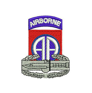 US-Army-82nd-Airborne-CAB-Combat-Action-Badge-Embroidered-Polo-Shirt