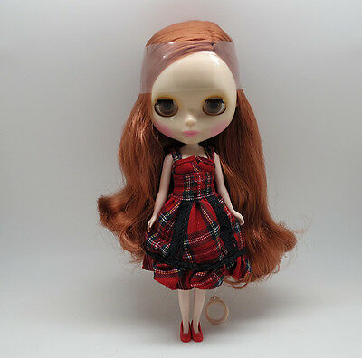 """12"""" Neo Blythe doll nude Takara doll from factory bronze hair J501 transparent S"""