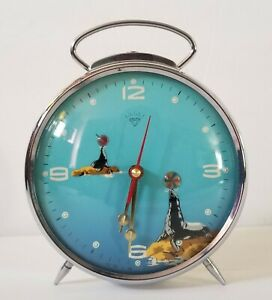 Vintage-Shanghai-Diamond-Seals-Playing-Ball-With-The-Trunk-Alarm-Clock-7-5-034-Tall