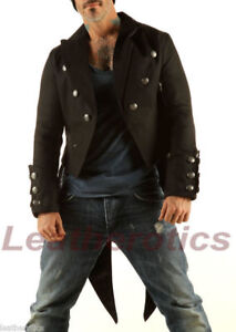 Men-039-s-Cotton-Jeans-Tailcoat-Jacket-Coat-with-Swallow-Tail-Gothic-Steampunk