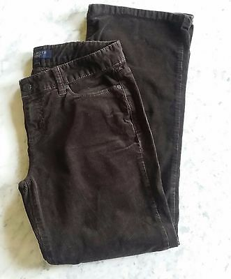 Free S&H!  Talbots Women's Solid Brown Corduroy Pants US Size 6P