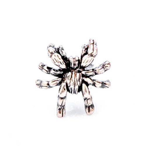 92.5/% Vintage Foncé Araignée Boucles d/'oreilles TARANTULA Bijoux Clous d/'oreilles ARGENT