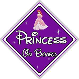 Ariel From The Little Mermaid Purple Disney Princess On Board Car Sign