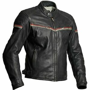 HALVARSSONS-EAGLE-MENS-SUPPLE-BLACK-LEATHER-MOTORCYCLE-MOTORBIKE-BIKER-JACKET