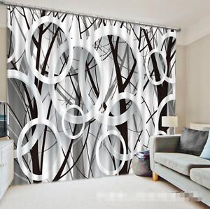 3d árbol círculo 0075 bloqueo foto cortina cortina de impresión sustancia cortinas de ventana