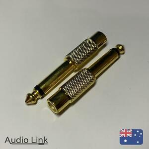 6-5mm-1-4-034-Male-to-Female-RCA-Connector-Adapter-Audio-Plug-Jack-TS-6-35mm-Mono
