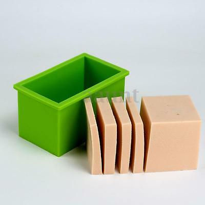 Silicone Loaf Soap Mold Cake Making Tools Baking Toast Bread DIY Chocolate Mould