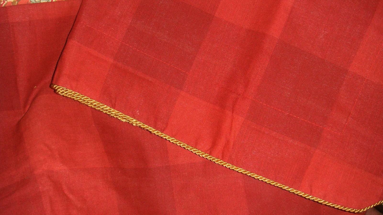 Croscill Serena 2 Red Buffalo Plaid Euro Pillow Shams European EUC Pair