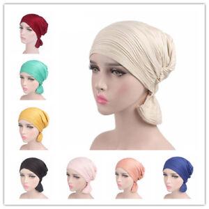 Arab-Turban-Muslim-Hijab-Islamic-Amira-Ruffle-Head-Wrap-Hat-Headwear-Beanie-Caps