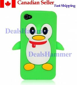 3D-Cute-Penguin-Silicone-Rubber-Skin-Case-Cover-for-Apple-iPhone-4-4S-4G-Green