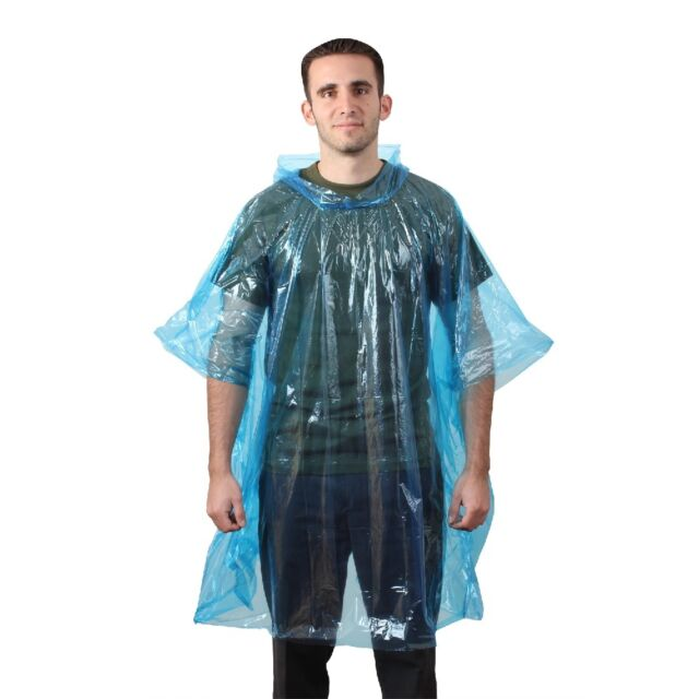 Rothco All Weather Emergency Poncho - 3681 Blue for sale online  2847cdbcbf4