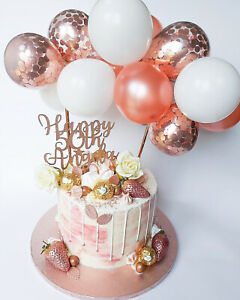 ROSE-GOLD-BALLOON-CAKE-TOPPER-CONFETTI-BABY-PARTY-BIRTHDAY-WEDDING-ARCH-GARLAND