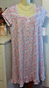 NWT S Small Eileen West Nightgown 100% Cotton Knit NEW Gown Summer ... 141d6f06d