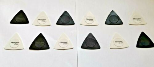 12 x Flanger FP-003 guitar bass plectrum picks 3in1 0.50//0.75//1.0mm antiskidding