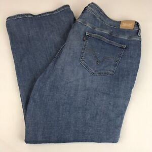Levi-039-s-Defined-Waist-Bootcut-Jeans-Plus-Size-24W-Short-Stretch-Medium-Wash