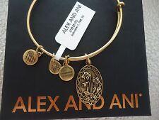 Alex and Ani Because I Love You GODMOTHER II Russian Gold Bangle W/ Card & Box