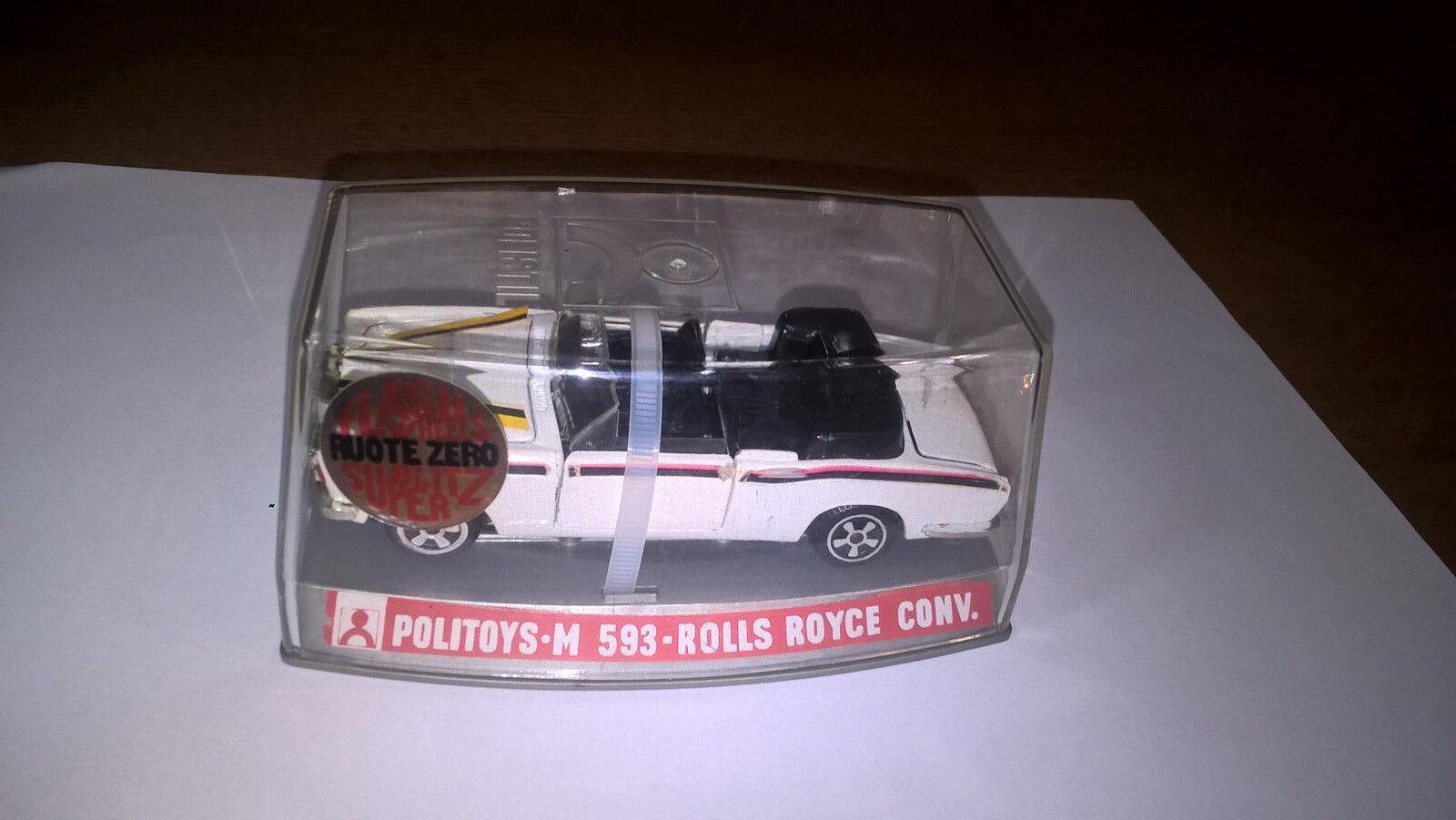 Politoys art.M593 Rolls Royce Converdeible col.Bianco con vetrinetta originale.