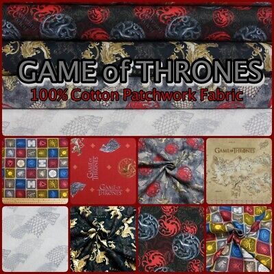 Game of Thrones *House Sigils* 100/% cotton fabric *sold per fat quarter*