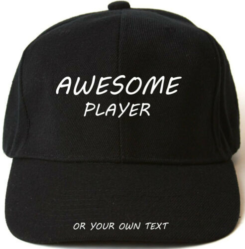 AWESOME PLAYER PERSONALISED BASEBALL CAP HAT XMAS GIFT