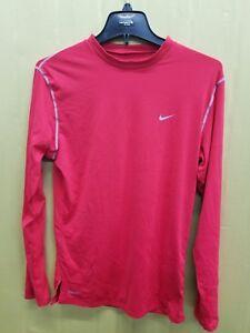 Nike-Mens-Red-Long-Sleeve-Workout-Shirt-SZ-L