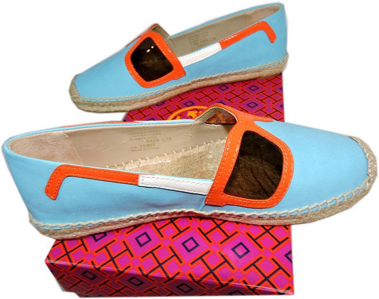 Tory Burch Jewel Oasis Sunny Espadrille Flats Canvas Ballerina shoes shoes shoes 7.5-37.5 2b44d3