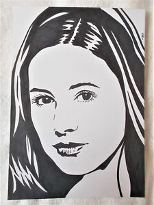 A4-Art-Marker-Pen-Sketch-Drawing-Karen-Gillen-as-Amy-Pond-from-Doctor-Who-Poster