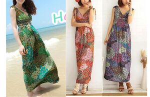 WOMEN-LADIES-SUMMER-BEACH-MAXI-DRESSES-B0014-3-COLOUR-SIZE-6-8-10-12-14-16-18