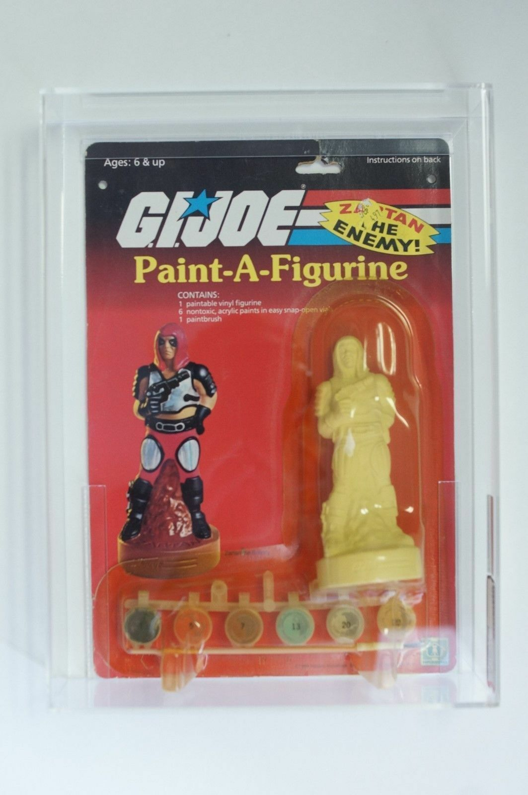 AFA G.I. Joe - 1984 Paint-a-estatuilla Zartan por Hasbro-AFA 70 ex + Santo Grial