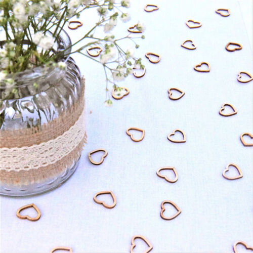 Hollow Rustic Small Wooden Hearts Love Wedding Table Decorations Confetti N7Z