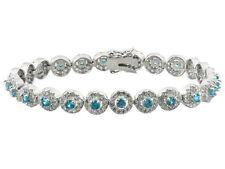 "7.5"" - Bella Luce 5.76ctw Neon Apatite And Diamond Simulants Sterling Bracelet"
