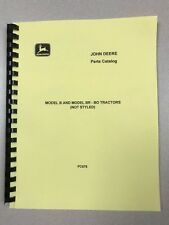 John Deere Unstyled B Br Bo Tractor Parts Manual Free Shipping