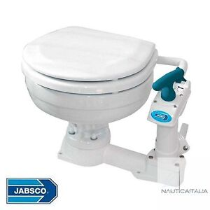 WC-MANUALE-JABSCO-COMPACT-PER-BARCA-CAMPER-NAUTICA-TOILETTE-MARINA