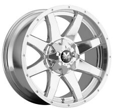 4 Offroad Monster M08 20x9 6x1356x55 0mm Chrome Wheels Rims 20 Inch Fits More Than One Vehicle