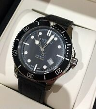 Christopher Ward c60 Trident 300 Nero Swiss Watch 43mm mk2 42 QUARZO NUOVO CON SCATOLA NUOVO