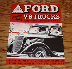 1935 ford v 8 truck commercial car sales brochure 35 pickup panel