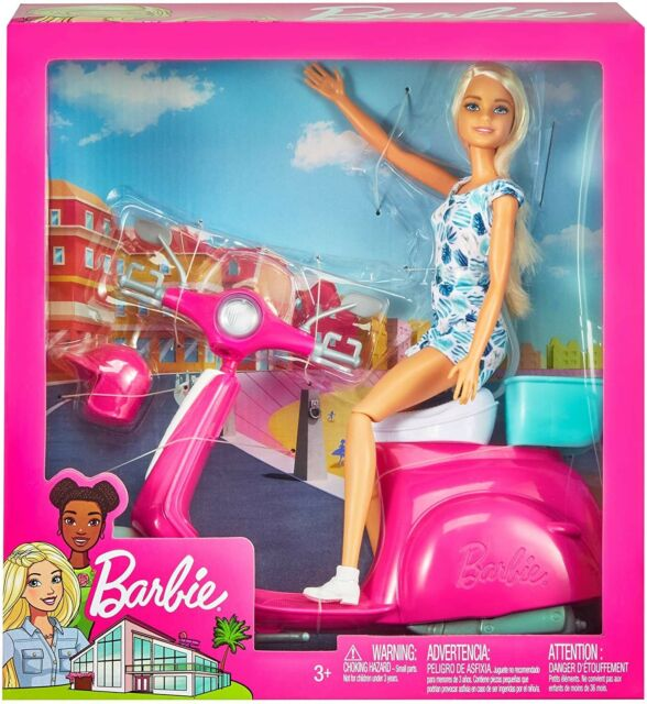Mattel playset Scooter con Bambola Barbie Gbk85s 0061 0768454
