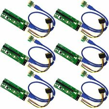 PACK of 6 USB 3.0 PCI-E Express 1x to16x Extender Riser Card Adapter