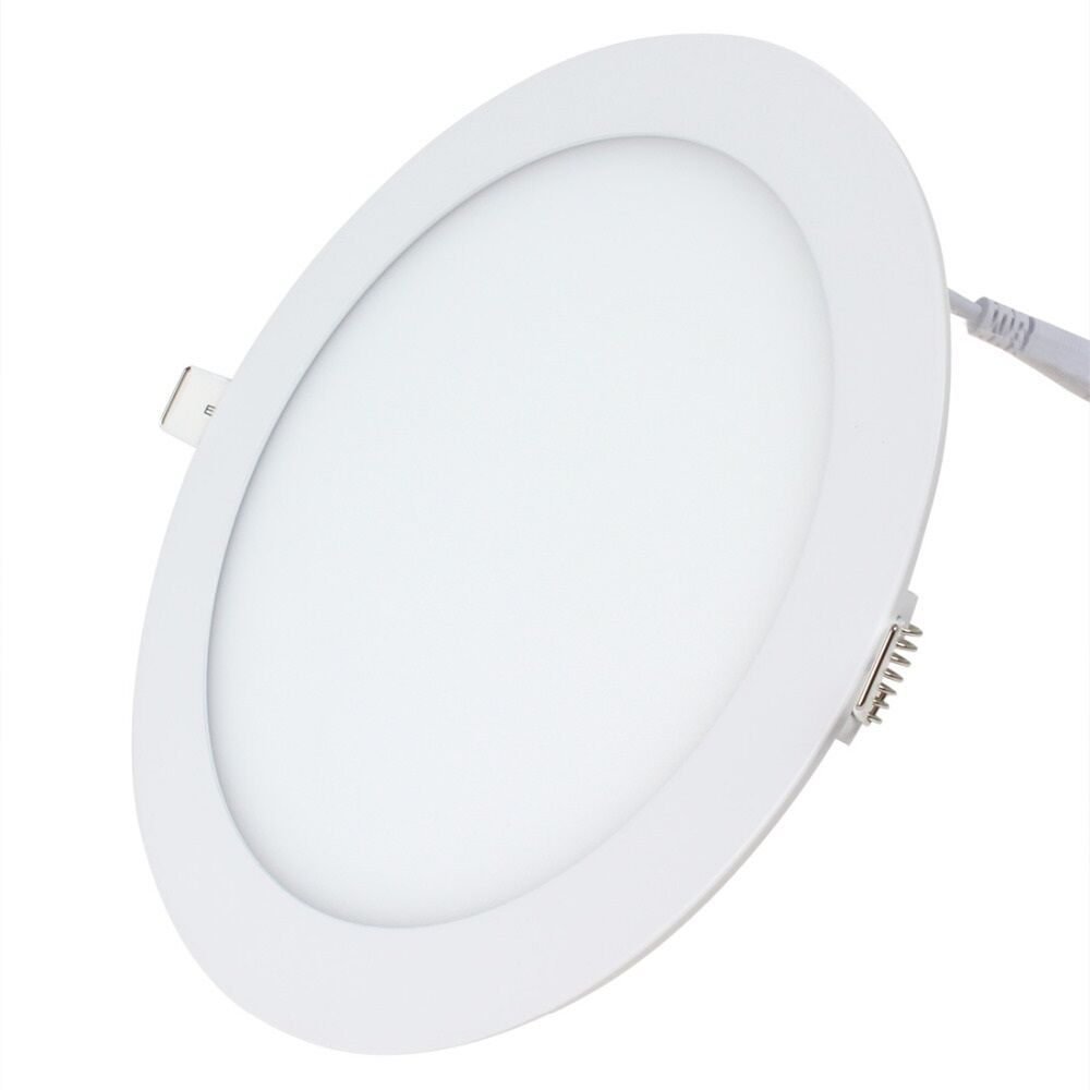 24w Led Round Recessed Ceiling Flat Panel Ultra Slim White