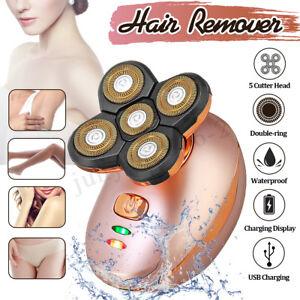 Women-Electric-Painless-Face-Leg-Arm-Body-Hair-Remover-5-Head-4D-360-Shaver