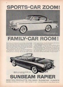 1958-Sunbeam-PRINT-AD-Rapier-Coupe-de-Sport-amp-Convertible-Roots-Product-Fun-Deco