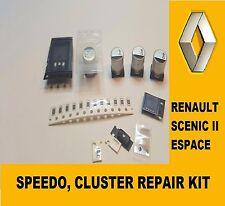 RENAULT Scenic II Espace 2003-2008 Strumento Cluster, SPEEDO Kit Di Riparazione