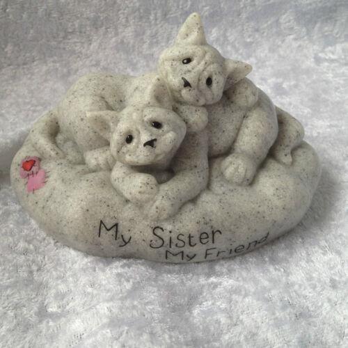 My Friend..Cats Figurine..BNIB Quarry Critters My Sister