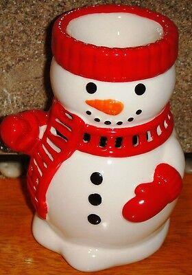 RETIRED Bath & Body Works 2011 Christmas SNOWMAN Fragrance Oil Warmer FREE SHIP