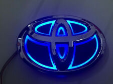 5D Car Logo Blue Light for Toyota Corolla Crown Yaris old Vios Auto Badge Light