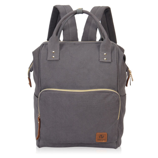 9d8a77d45eca Hynes Eagle 24L Doctor Style Canvas School Backpack Large Daily Work Bag