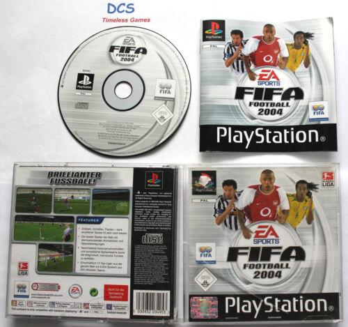1 von 1 - FIFA 2004 Fussball Spiel (Sony PlayStation 1, PS2 Game EA Sports )