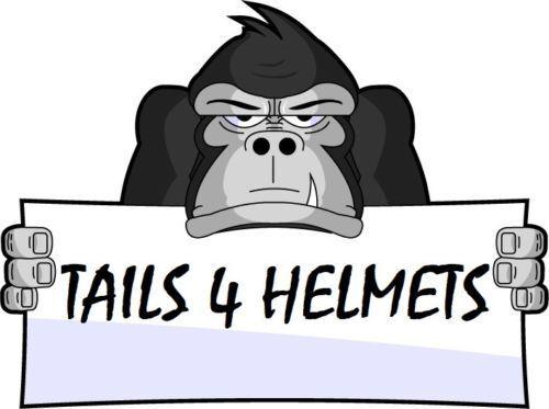 """.Helmet Hair  14/"""" each .. Pair Bike Motorcycle ORAN ORANGE Helmet Pigtails.."""